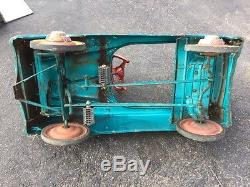Vintage Genuine Murray Pedal Car Sports Radio Full Ball Bearing Teal Blue Color