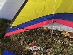 Vintage Hawaiian Top Of The Line Spin Off Flight Squadron 8ft Stunt Kite EUC
