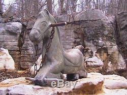 Vintage Horse Playground Spring Rode Swing JE Burke USA Aluminum
