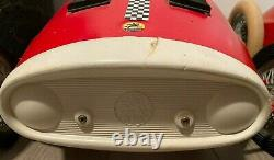Vintage Imported Italian Pedal Car Giordani Brand Red Auto Sprint Racer