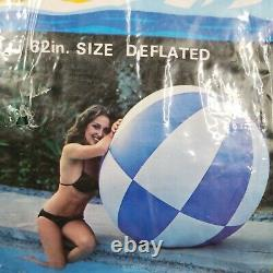 Vintage Inflatable 62 Beach Ball Paradise New in package, NOS Made in USA