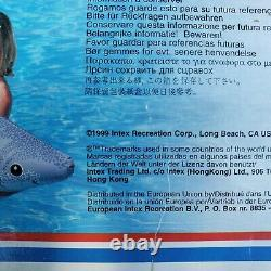 Vintage Intex The Wet Set Tiger Shark Ride On Inflatable Float 92in x 40in Open