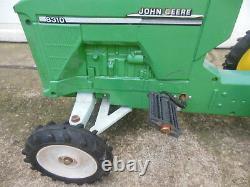 Vintage JOHN DEERE 8310 ERTL Pedal Car TRACTOR METAL BODY Nice Condition Ride On