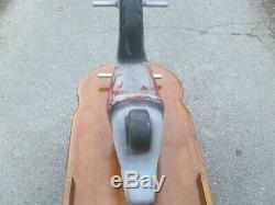Vintage J. E. Burke cast aluminum playground spring toy