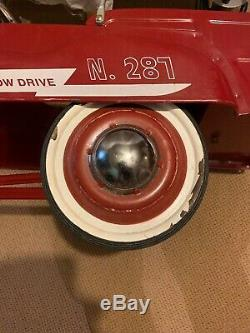 Vintage Jet Flow Drive Fire Dept Truck Pedal Car No 287 City with Hose