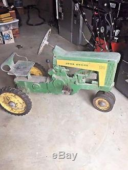 Vintage John Deere 130 Pedal Tractor Circa 1958-1960 With TrailerAllOriginal