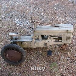 Vintage John Deere 1950's Eska small 60 late version pedal tractor for repair