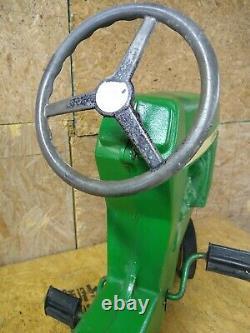Vintage John Deere ERTL model 520 Ride On Tractor Pedal Toy Metal Childs Kid