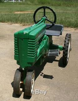Vintage John Deere Pedal Tractor Works Fine Great Condition