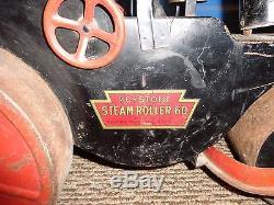 Vintage Keystone 60 Ride On Steel Steam Roller Toy, In Original Condition