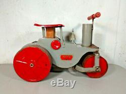Vintage Keystone Ride On Ride'Em Steam Roller Pressed Steel 1920s