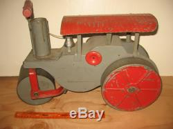 Vintage Keystone Ride On Steel Steam Roller Toy, In Original Condition
