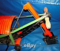 Vintage Keystone Ride'em Pressed Steel Steam Shovel Bucket Loader Old Metal Toy