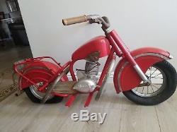 Vintage LENEARTS BELGIUM Mini INDIAN-BRAND MOTORCYCLE Kiddie Carnival Ride