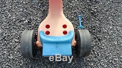 Vintage MARX 1970s DELUXE BIG WHEEL ADJ SEAT SADDLE BAG hand break RARE