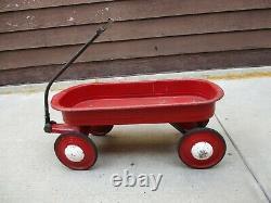 Vintage MURRAY Childs Pull Wagon with Racing Handle & Original Hub Caps 1940/50's