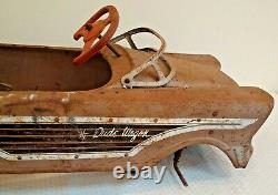 Vintage MURRAY Metal Pedal Car DUDE WAGON Original Barn Find Estate Parts RARE