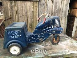 Vintage MURRAY RADAR PATROL Childs PEDAL CAR 1940S Rare Barn Find