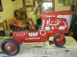 Vintage Mac 4 Pedal Tractor Chain Drive With Metal Seat All. Original