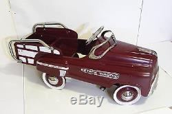 Vintage Maroon Estate Wagon Pedal Car