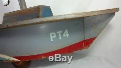 Vintage Mili-Toys 48 WWII Mosquito Squadron PT Boat ride-onMilitary pedal car
