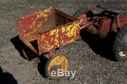 Vintage Murray 2 Ton Diesel Model Pedal Tractor with Cart