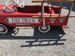 Vintage Murray AMF Fire Truck Pedal Car Engine Co. 1