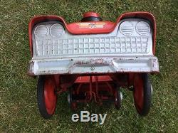 Vintage Murray City Fire Department Chief Pedal Car Genuine Classic Genuine 50's