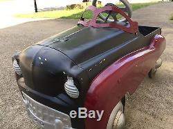 Vintage Murray Dip Side Pedal Car Antique Burgundy/Black