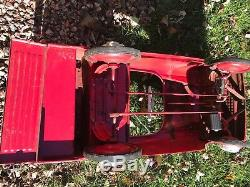 Vintage Murray Fire Truck Pedal Car 1960s