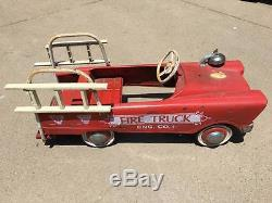 Vintage Murray Fire Truck Pedal Car with Ladders j4