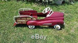 Vintage Murray Pedal Car 1940's Pontiac Original Paint Station Wagon