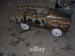 Vintage Murray Pedal Car Fire Truck Payload Earth Mover Dump