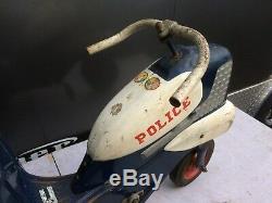 Vintage Murray Police Radar Patrol Pedal Car Chain Drive Tricle