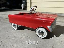 Vintage Murray pedal car V front tee bird 1960 NICE SHAPE! Shiny Red paint