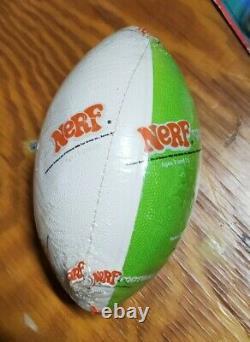 Vintage NERF Football Sealed 1970s Toy Green White two tone