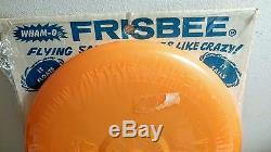 Vintage NOS Frisbee Pluto Platter Wham-O orange shrinkwrapped original Frisbee