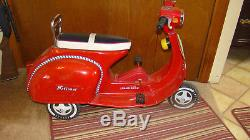 Vintage National Red Moped/Vespa Scooter Pedal Car