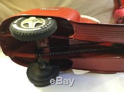 Vintage National Red Vespa type Scooter Pedal Car