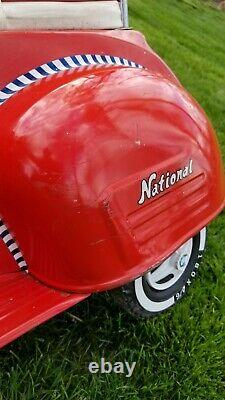Vintage National Red Vespa type Scooter Pedal Car Very Clean