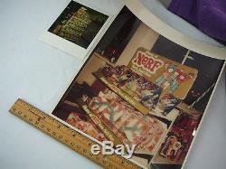 Vintage Nerf Football Wood Pattern Prototype Sample Employee Shirt Kenner Hasbro