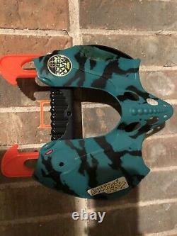 Vintage Nerf Max Force Manta Ray Blaster 1995 Dart Gun Rare Kenner Aqua Black