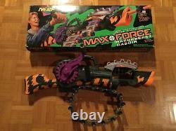Vintage Nerf Max Force Razorbeast Dart Chain Gatling Gun 1994