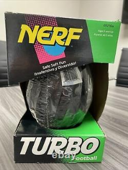 Vintage Nerf Turbo Football, Kenner 1992 New In Package! Collectible! Rare
