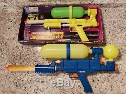 Vintage Nos 1990 Larami Super Soaker 50 & 100 Water Squirt Gun RARE