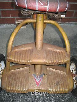 Vintage OLD MURRAY Tricycle Trike COMPLETE, SOLID RUBBER TIRES! WORKING CON