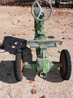 Vintage Original 1950s Eska John Deere 130 Pedal Tractor 1 Large Hole Engine