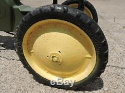 Vintage Original 1950s Eska John Deere 620 Cast Aluminum Pedal Tractor RARE