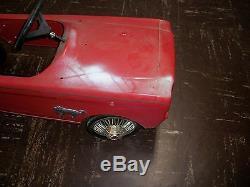 Vintage Original AMF Ford Mustang 1964/65 535 Pedal Car for Parts or Restoration
