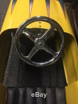 Vintage Original Custom Pedal Car Yellow